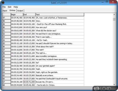 SubC convertidor de subtitulos
