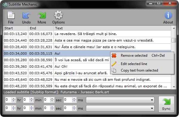 Subtitle Mechanic convertidor de subtitulos