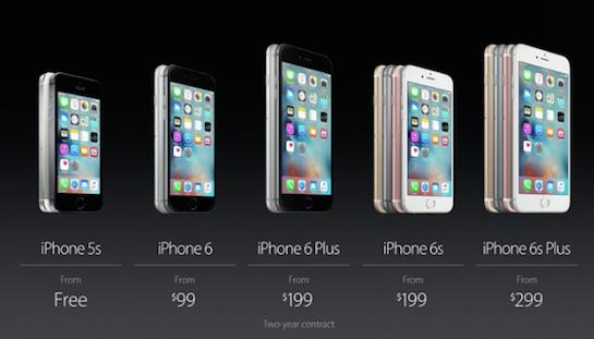 Precios del iPhone 6S