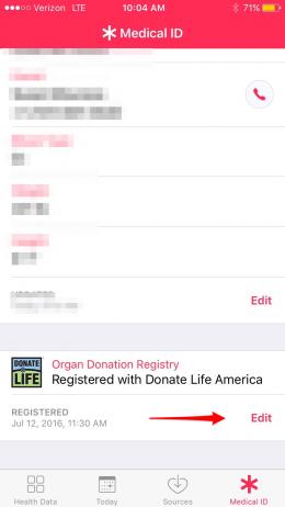 cómo registrarse como donante de órganos en iPhone con iOS 10