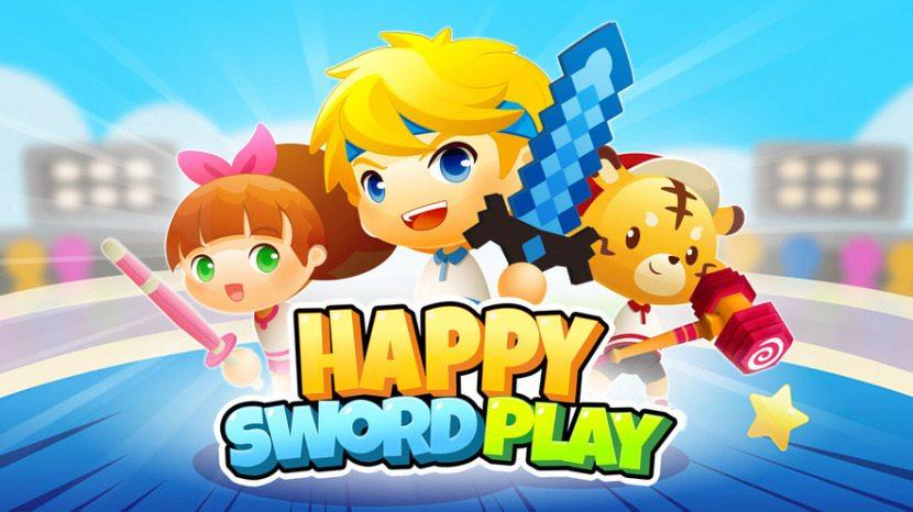 Feliz juego de espadas
