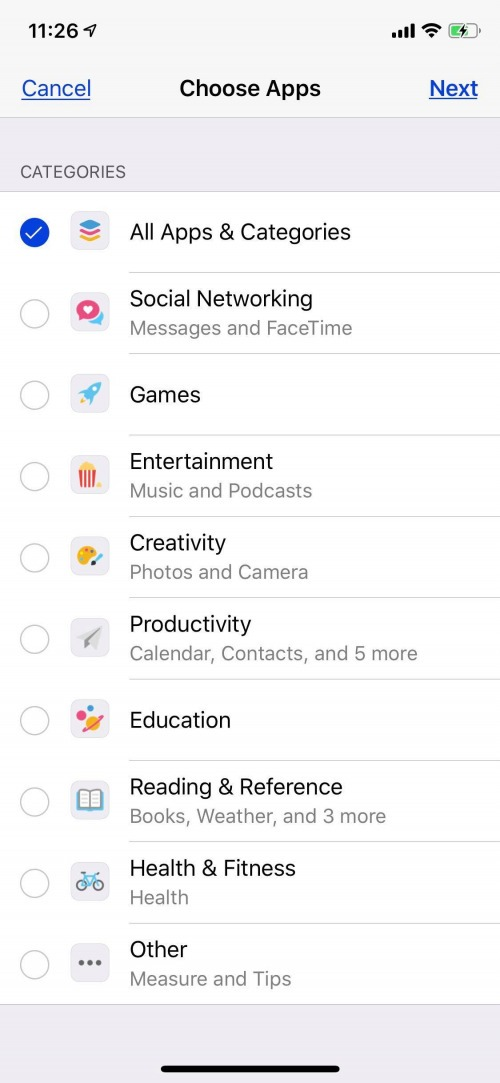 control parental para aplicaciones de iphone