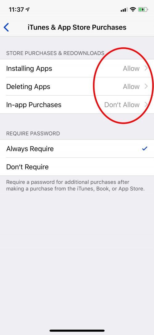 controles parentales para la compra de aplicaciones